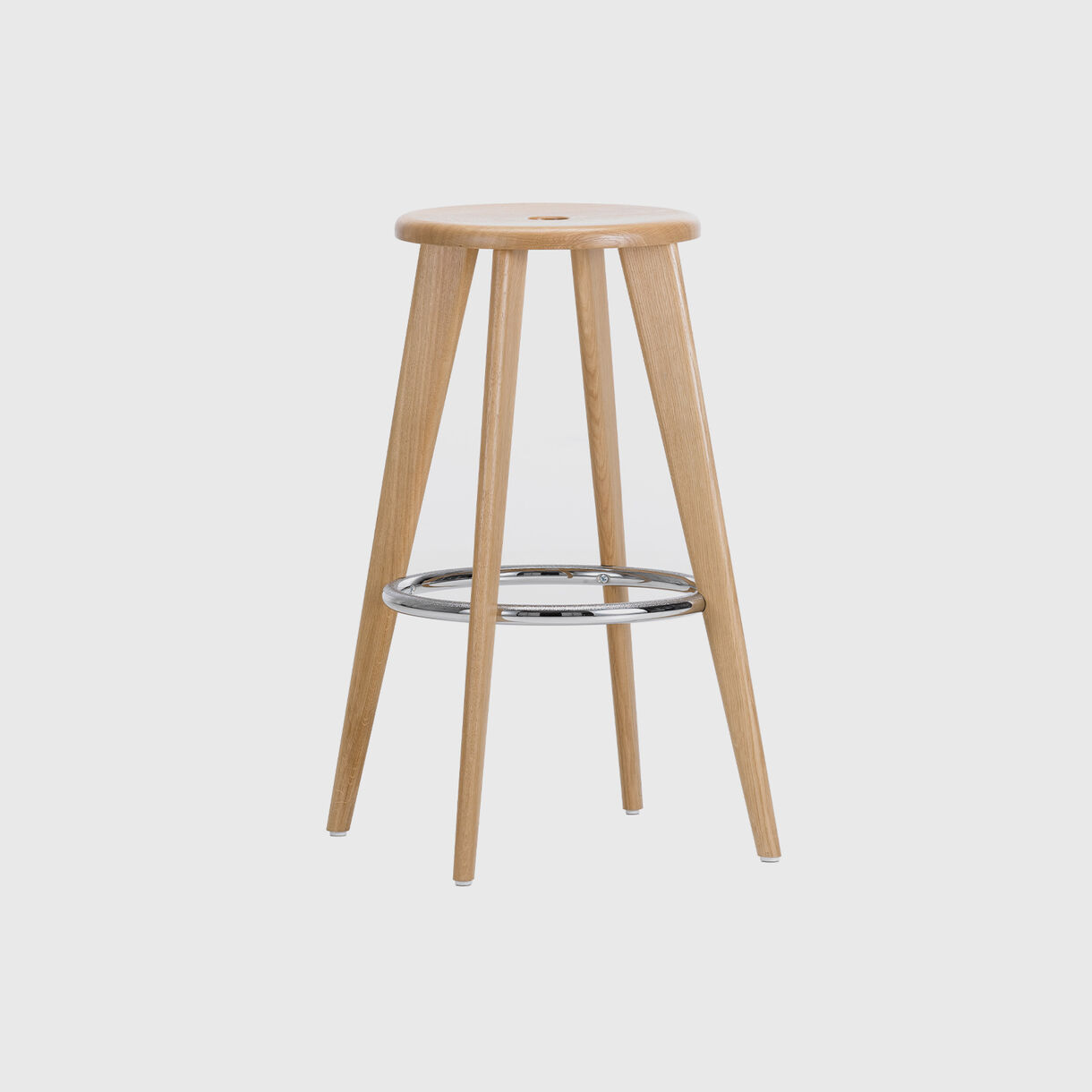 Tabouret Haut Bar Stool, Natural Oak