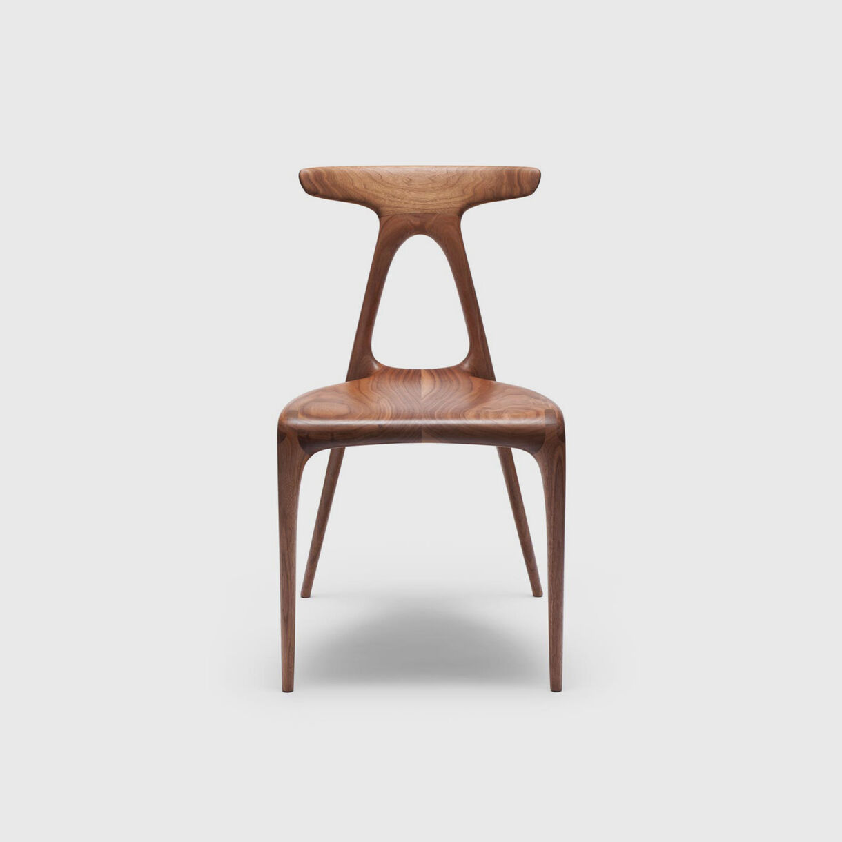 Alpha Chair, Walnut, Front