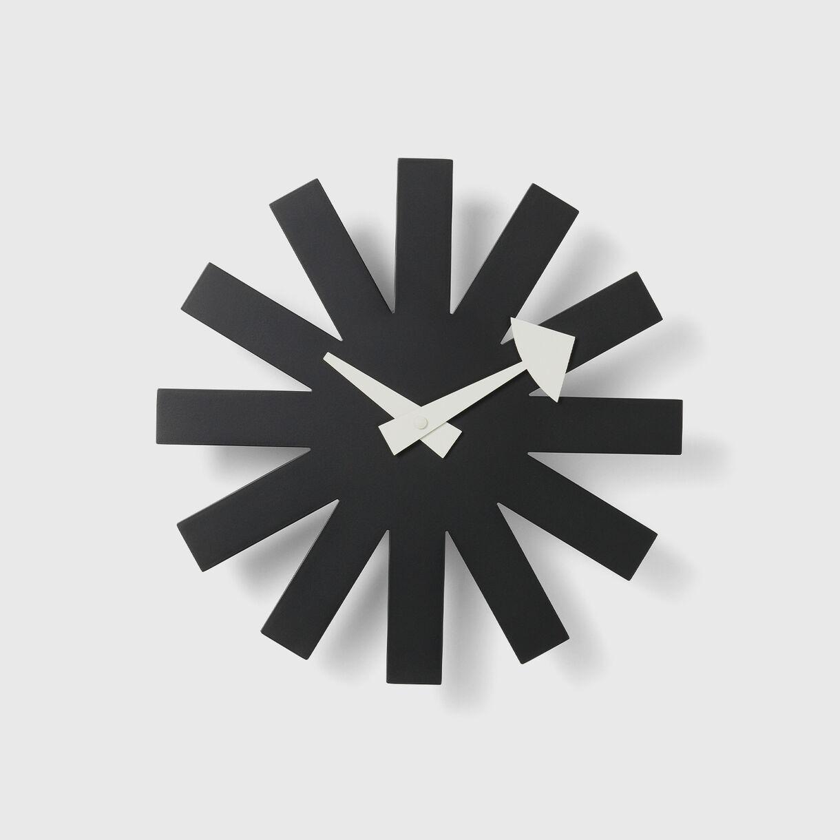 Asterisk Wall Clock, Black