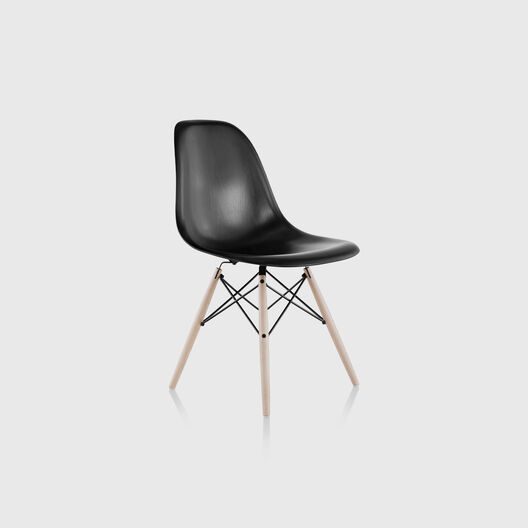 Eames® Moulded Wood Side Chair, Dowel Base