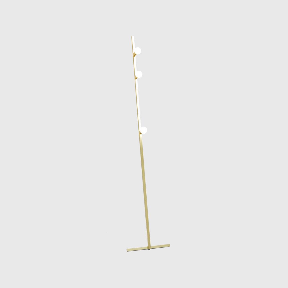 Dot Line Floor Lamp, Brass