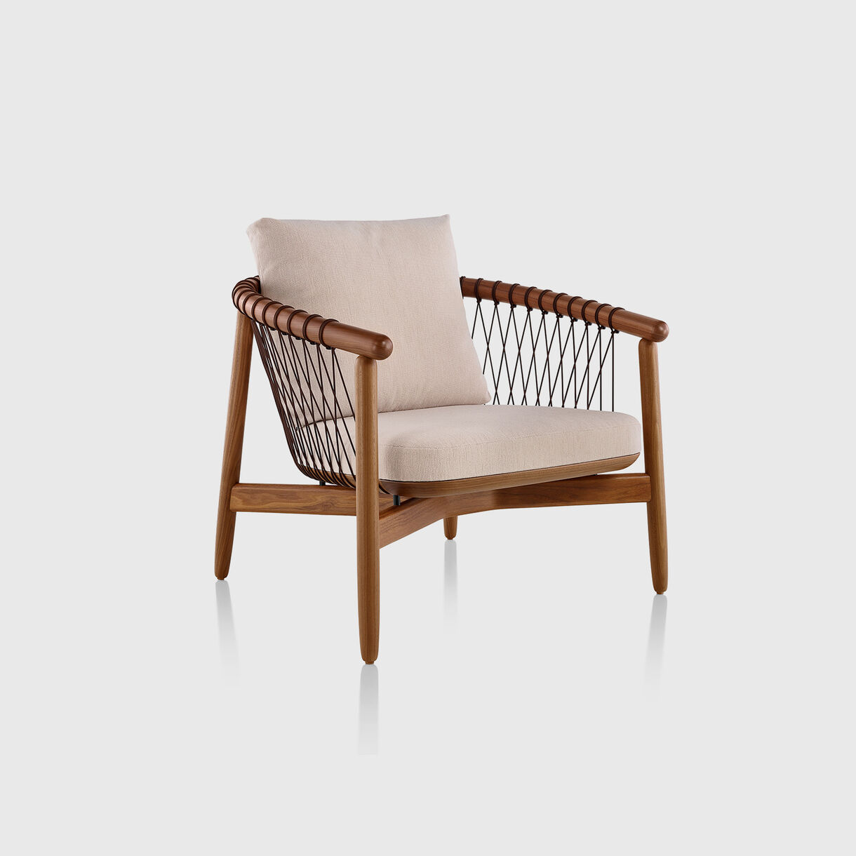 Crosshatch Lounge Chair, Walnut & Native Pale Umber