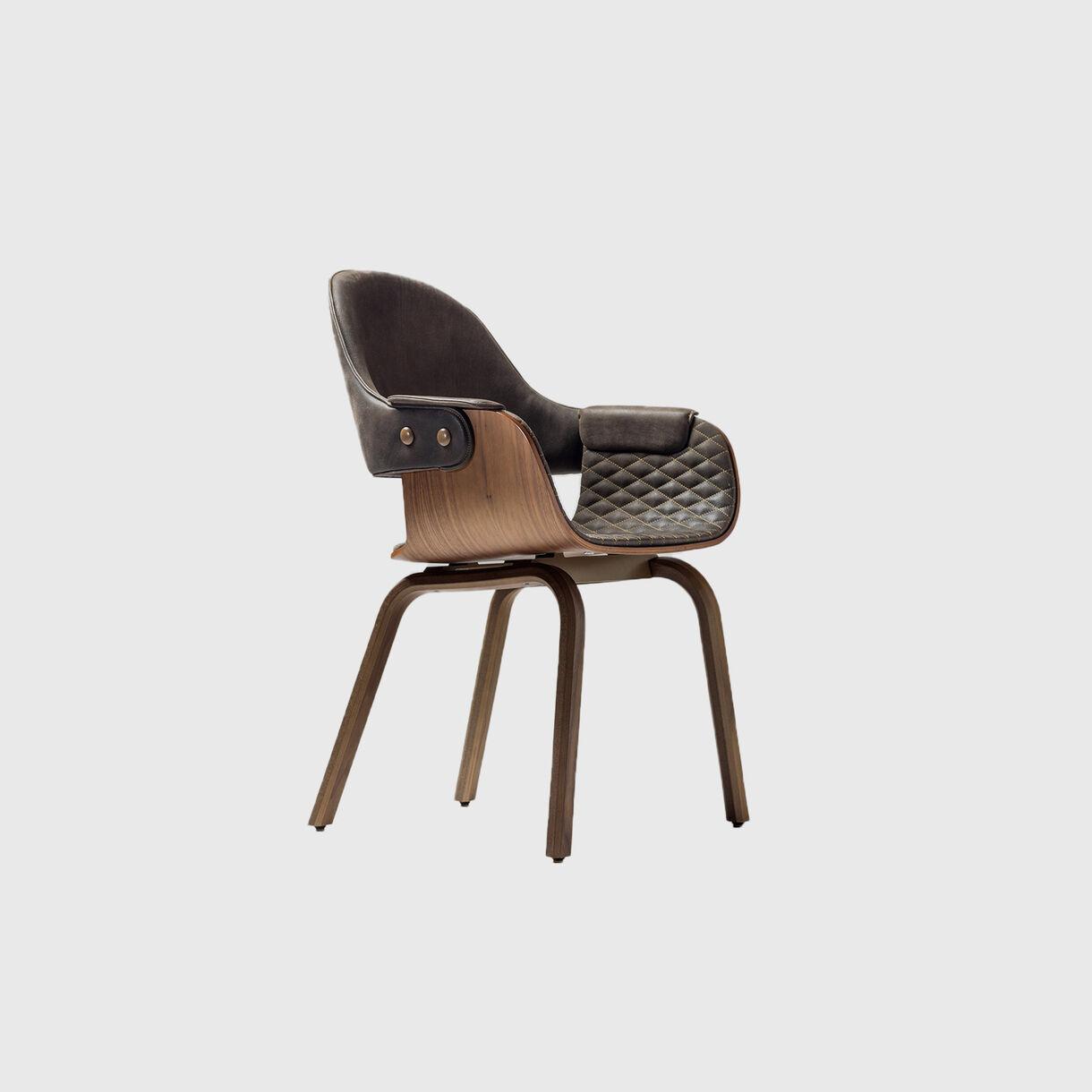 BD Barcelona Design Showtime Nude Chair, Wood Base