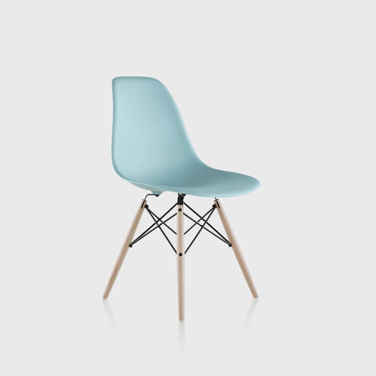 Eames® Moulded Plastic Side Chair, Dowel