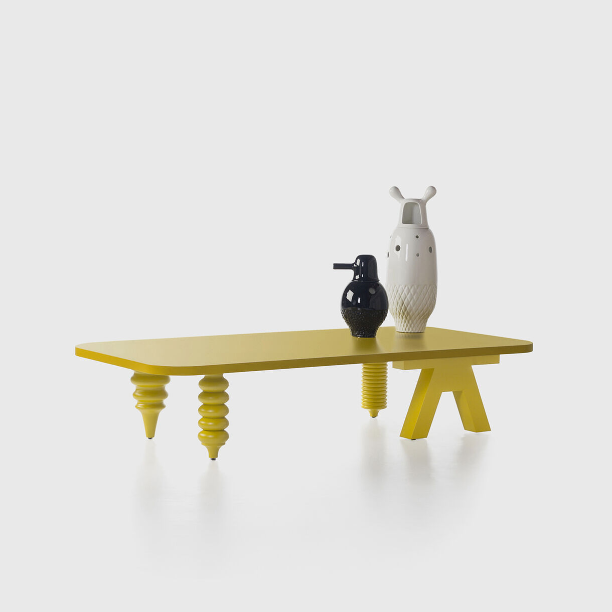 Showtime Multileg Low Table, Laminate, with Vases