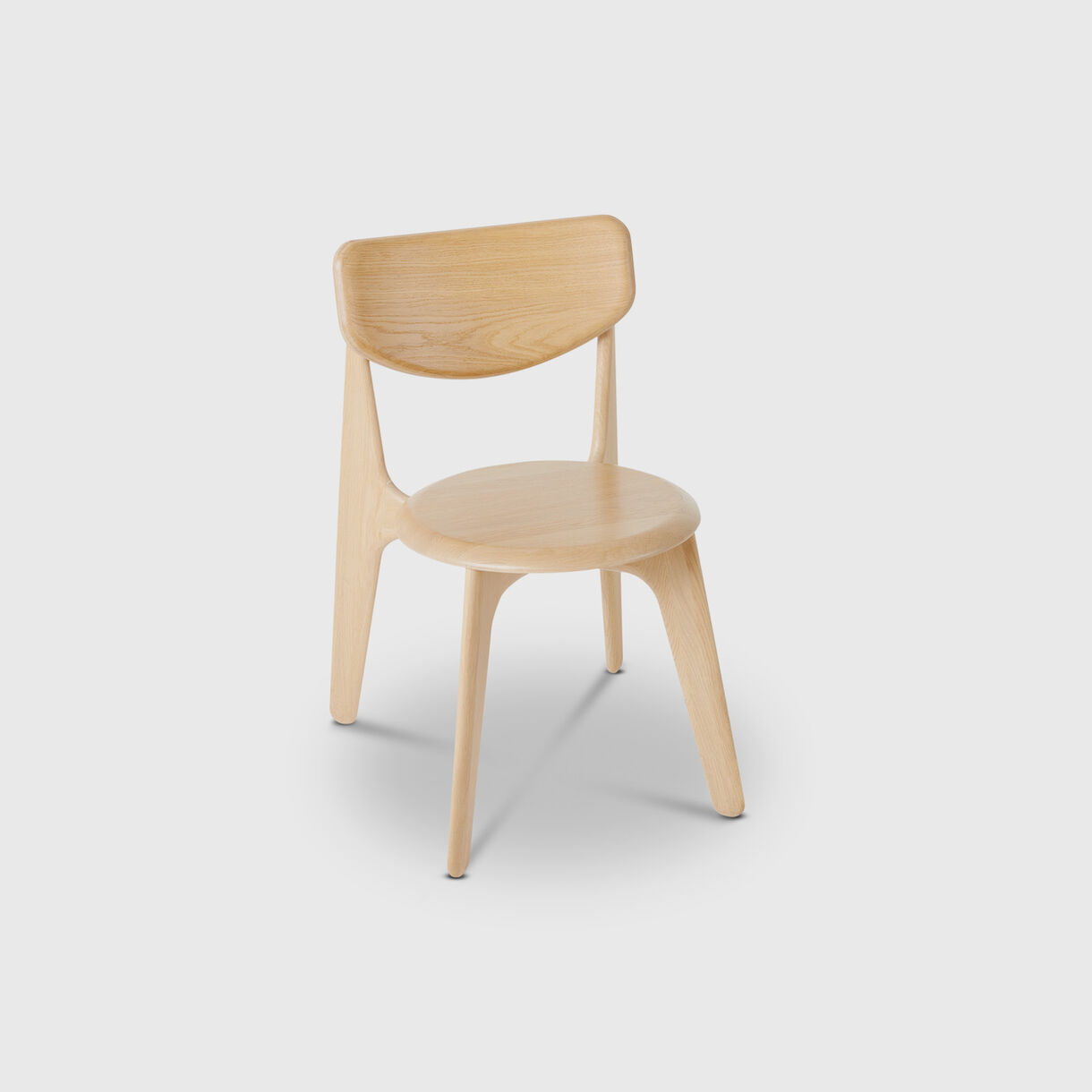 Slab Side Chair, Natural Oak