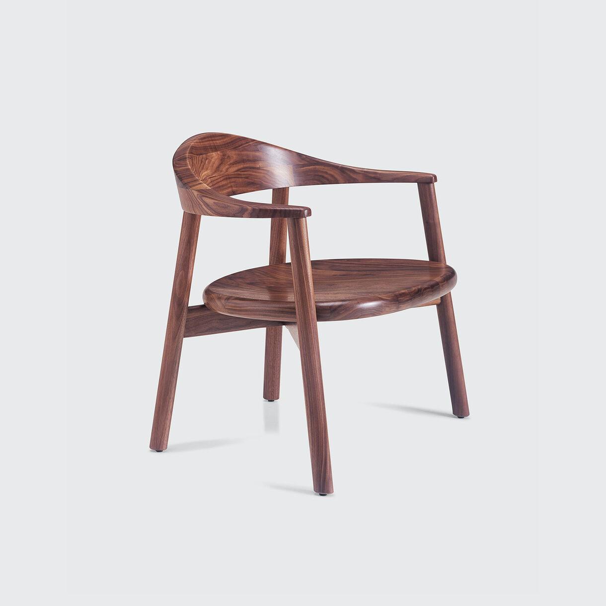 Pebble Lounge Armchair, Walnut