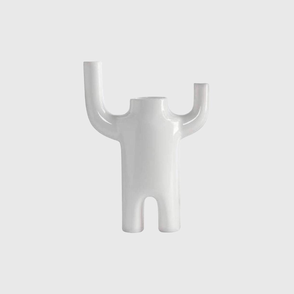 Happy Susto Vase, White, Large