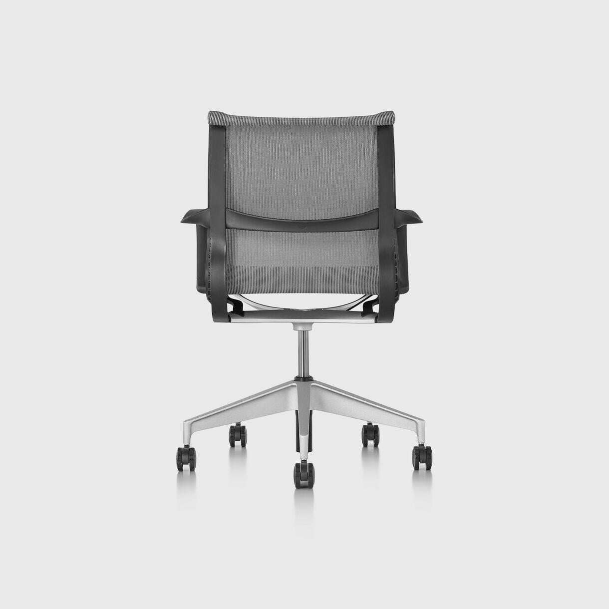 Setu Chair - Graphite, Graphite Frame, Silver Alloy Base