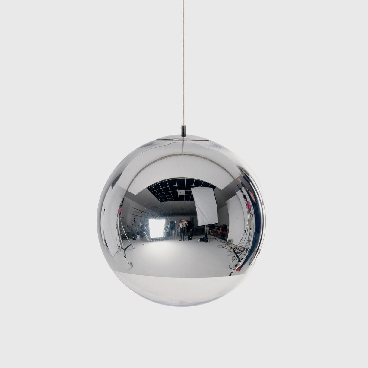 Mirror Ball Pendant 500mm, Chrome