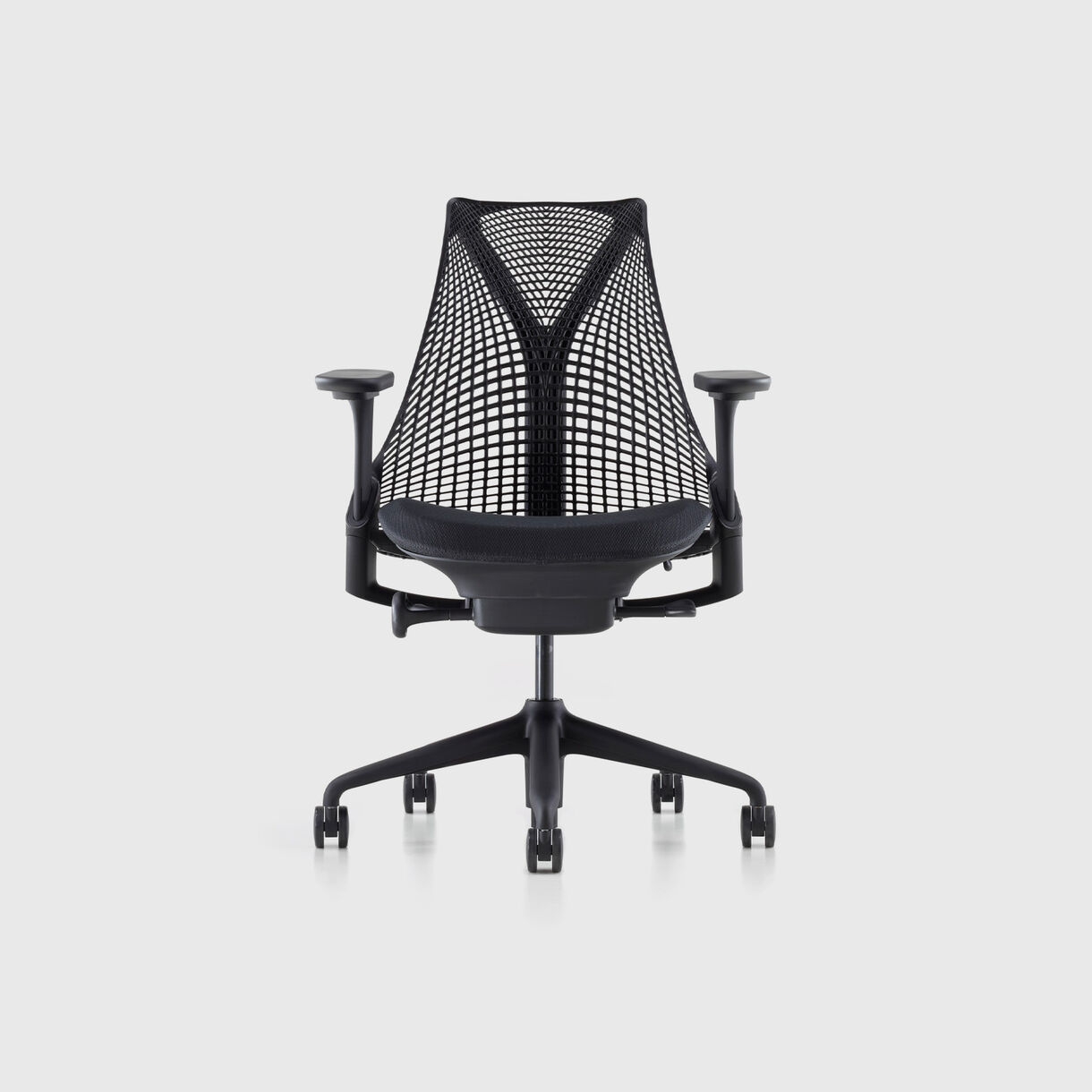 Sayl Chair, Black Base & Zen Onyx Upholstery