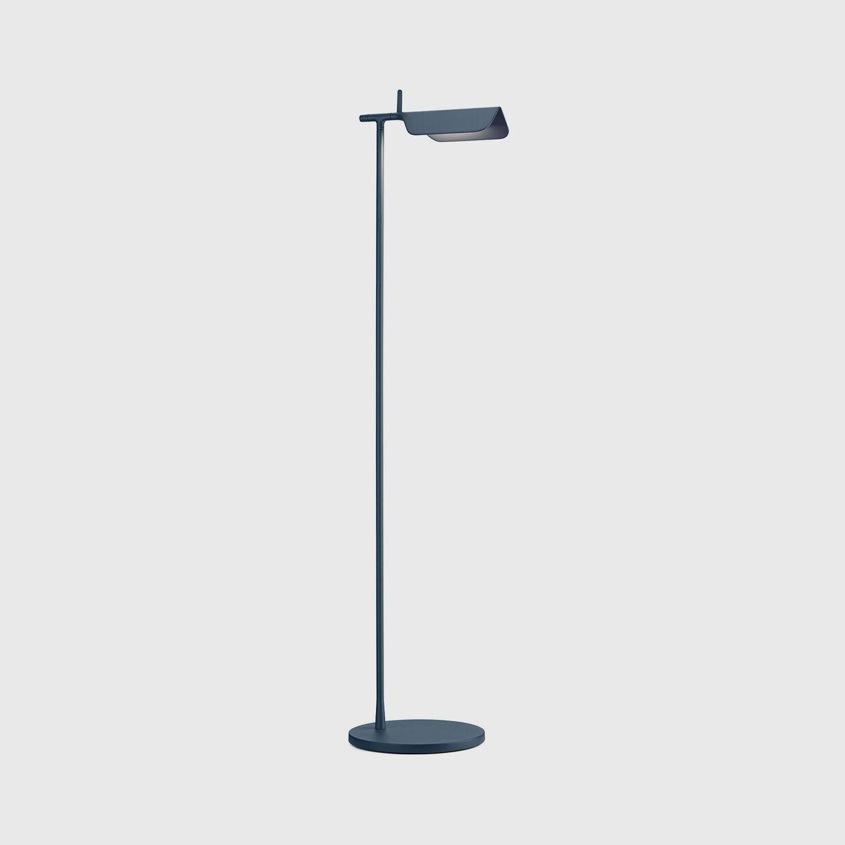 Tab Floor Lamp, Matt Blue