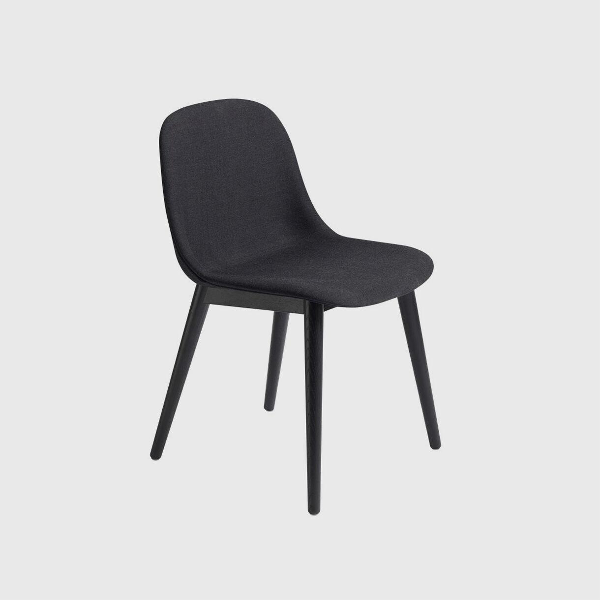 Fiber Side Chair Wood Base, Upholstered, Remix 183
