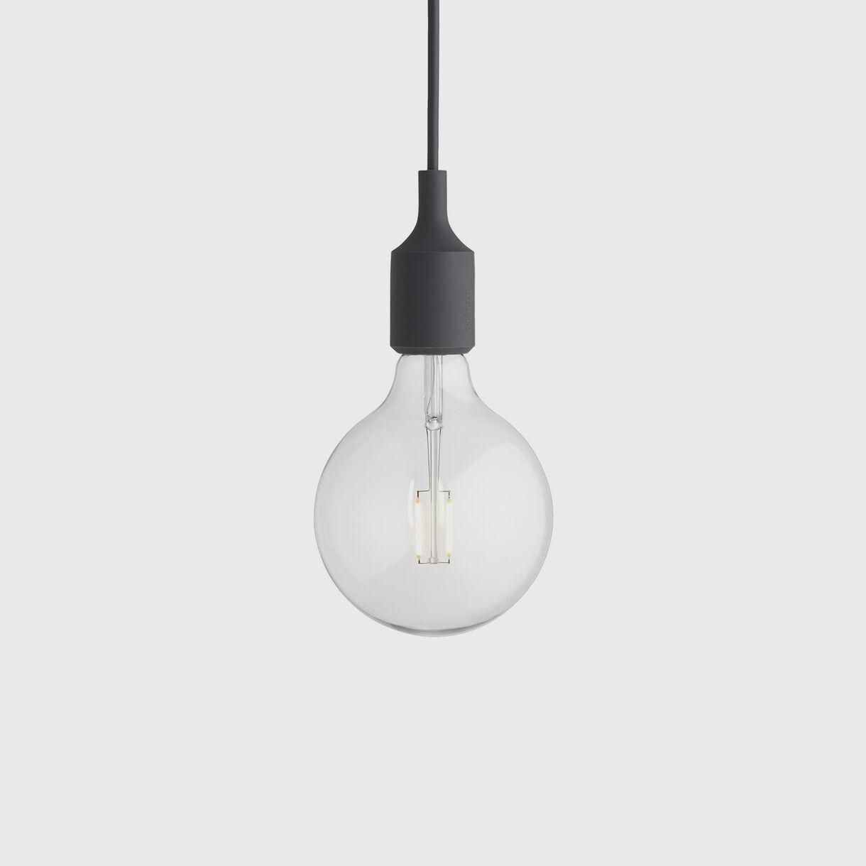 E27 Pendant Lamp, Dark Grey