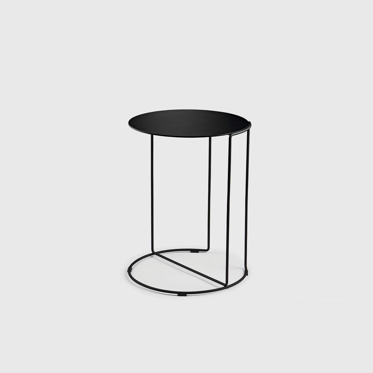Oki Round Side Table, T4, Black