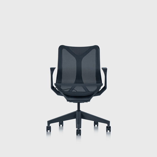 Cosm Chair, Nightfall, Low Back, Fixed Arms