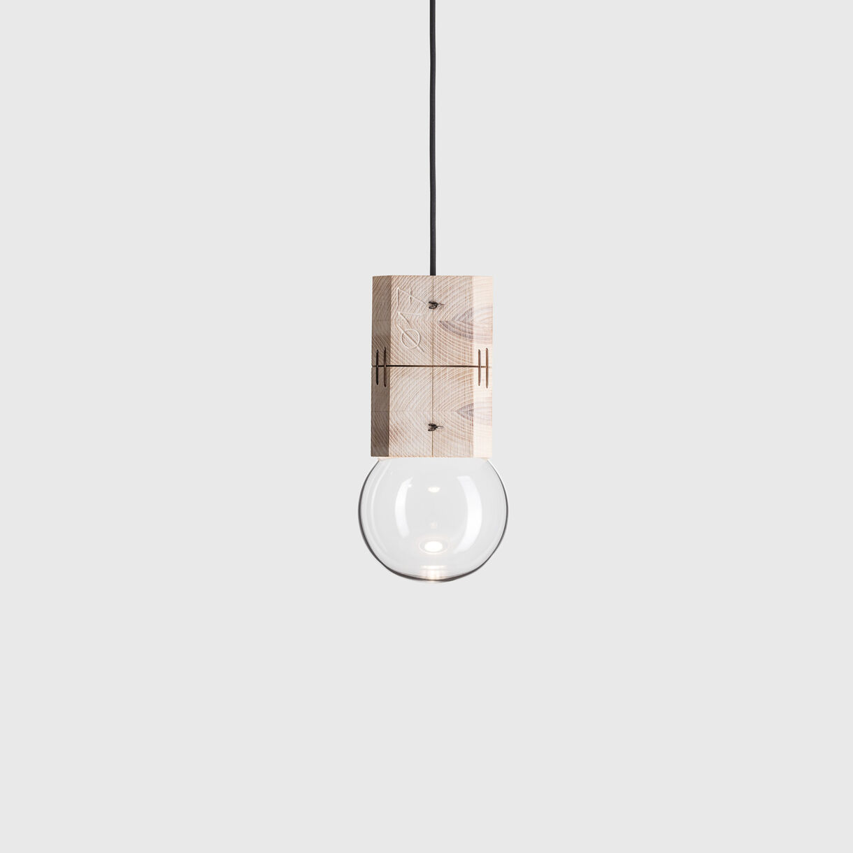 Moulds Pendant Lamp, Small, Clear