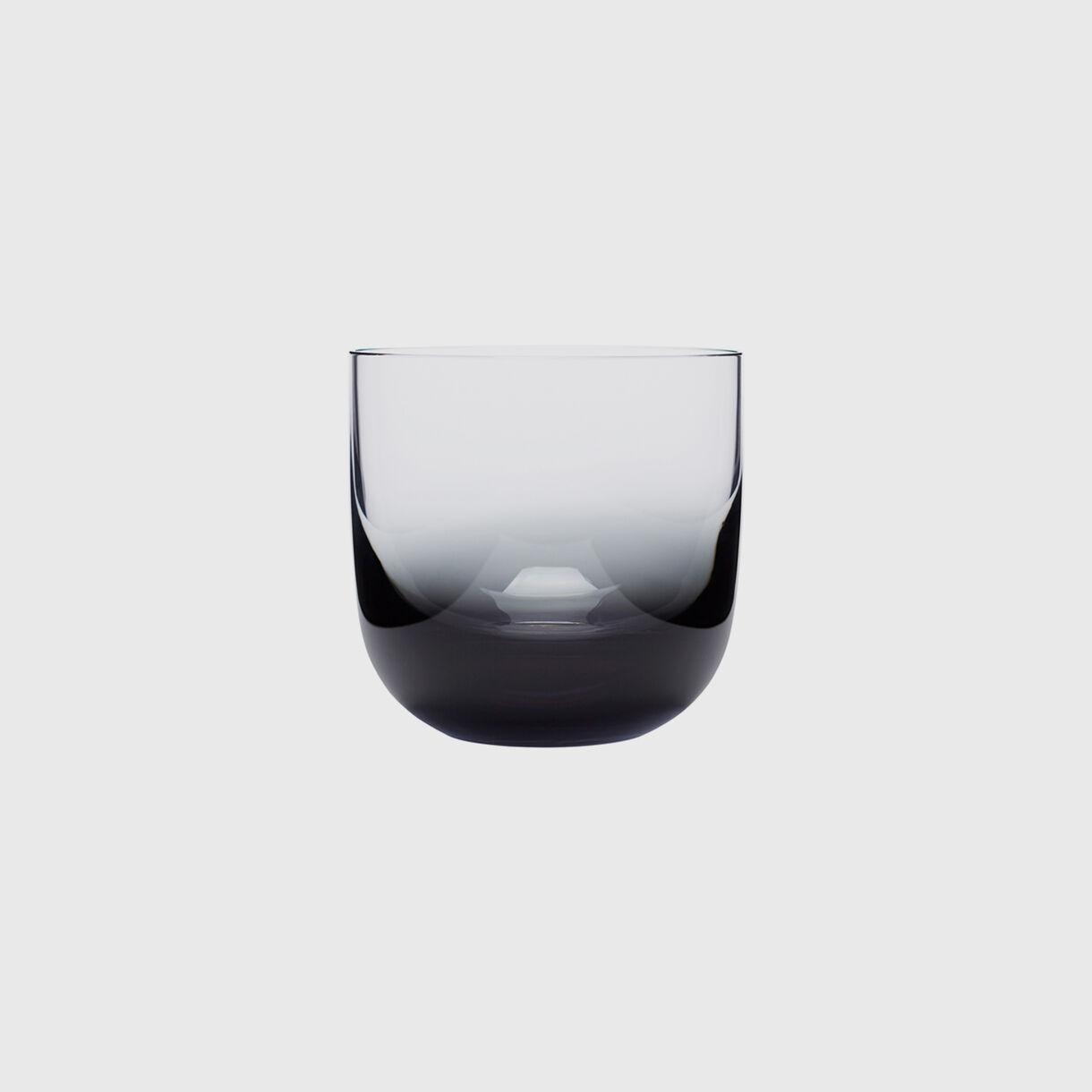 Tank Whiskey Glass, Black