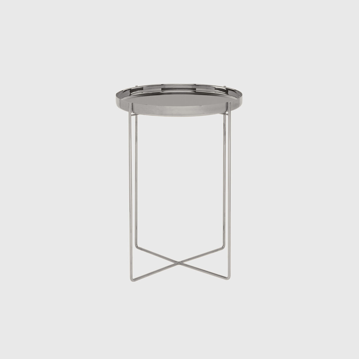 Habibi Side Table, Small, Stainless Steel