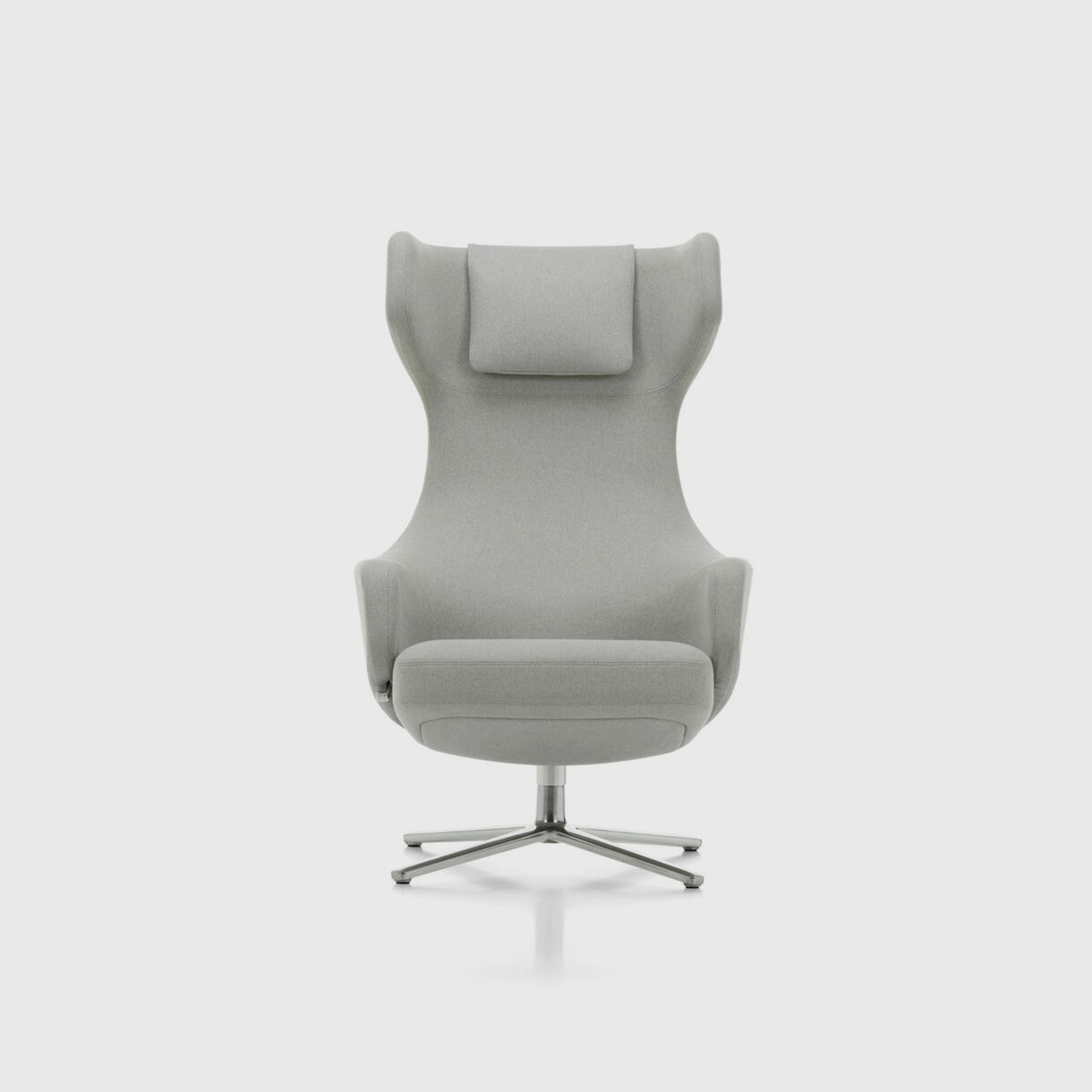 Grand Repos Wing Chair, Cement Fabric