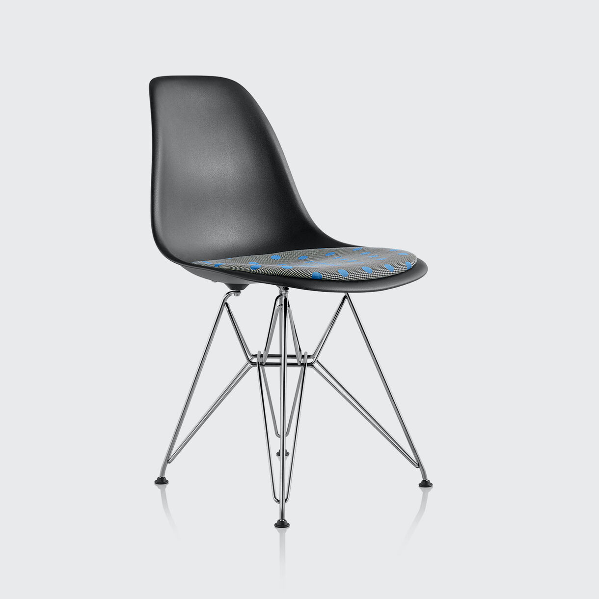 Eames Moulded Plastic Side Chair, Paul Smith x Maharam