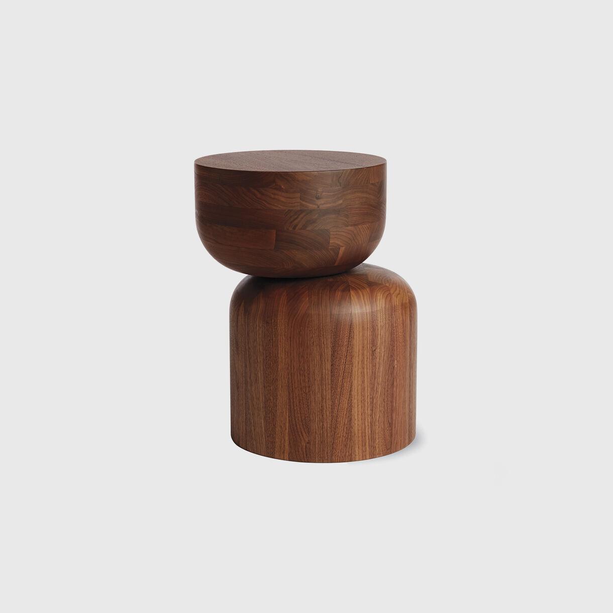 Hew Side Table, D, Walnut