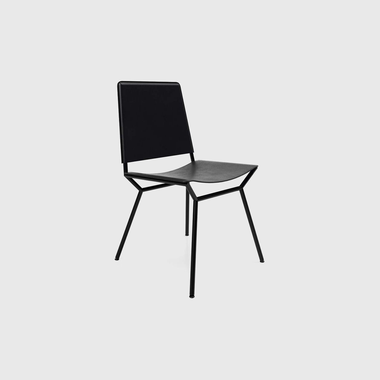 Aissu Chair, Saddle Black Leather
