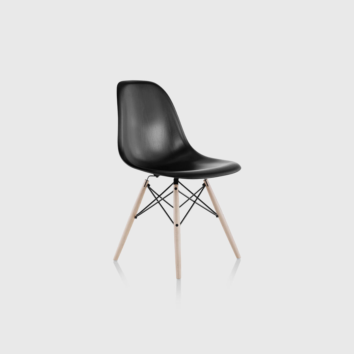 Eames Moulded Wood Side Chair, Dowel Base