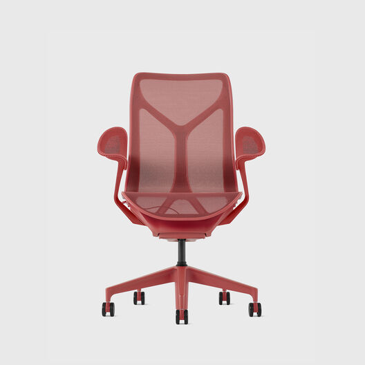 Cosm Chair, Canyon, Mid Back, Leaf Arms