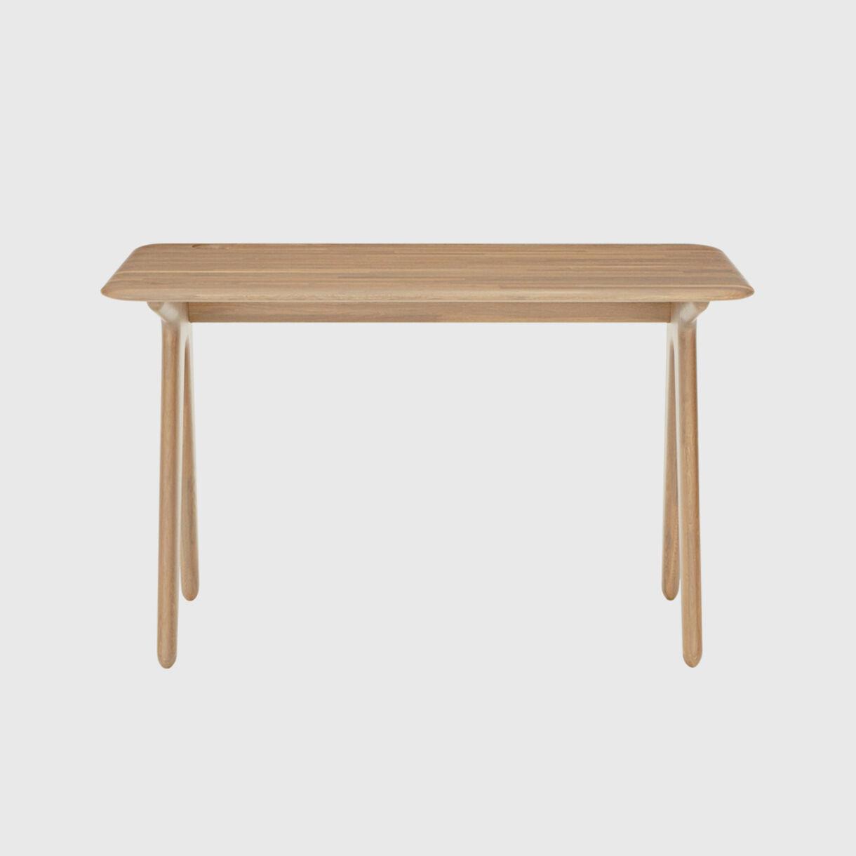 Slab Individual Desk, Natural Oak