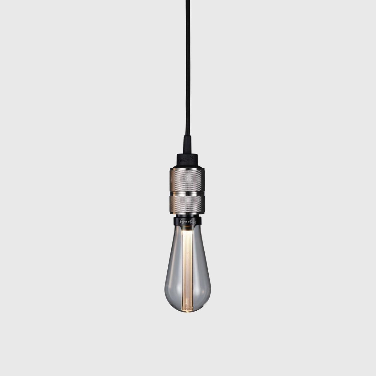 Heavy Metal Pendant, Steel, Crystal Bulb, On