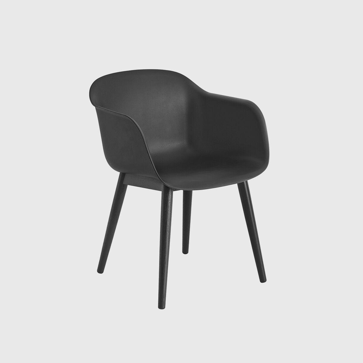 Fiber Armchair, Black