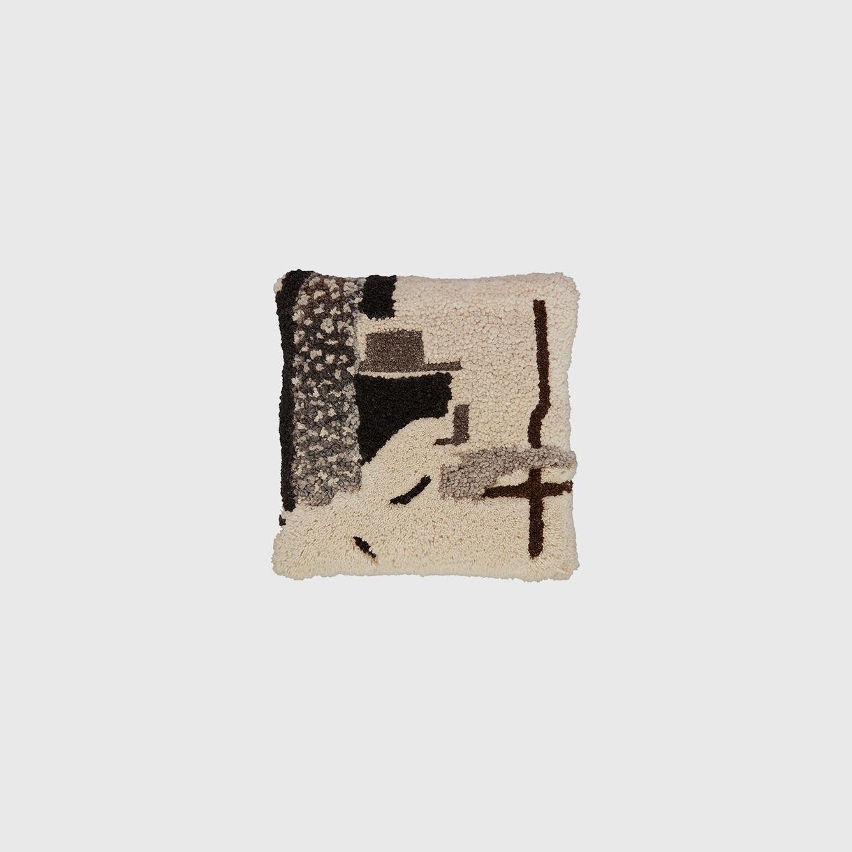 Abstract Cushion, Grey