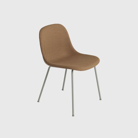 Fiber Side Chair, Tube Base, Upholstered