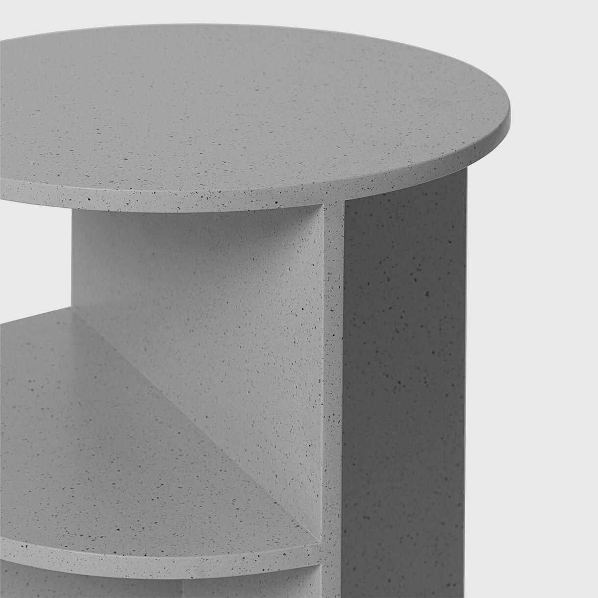 Halves Side Table, Grey
