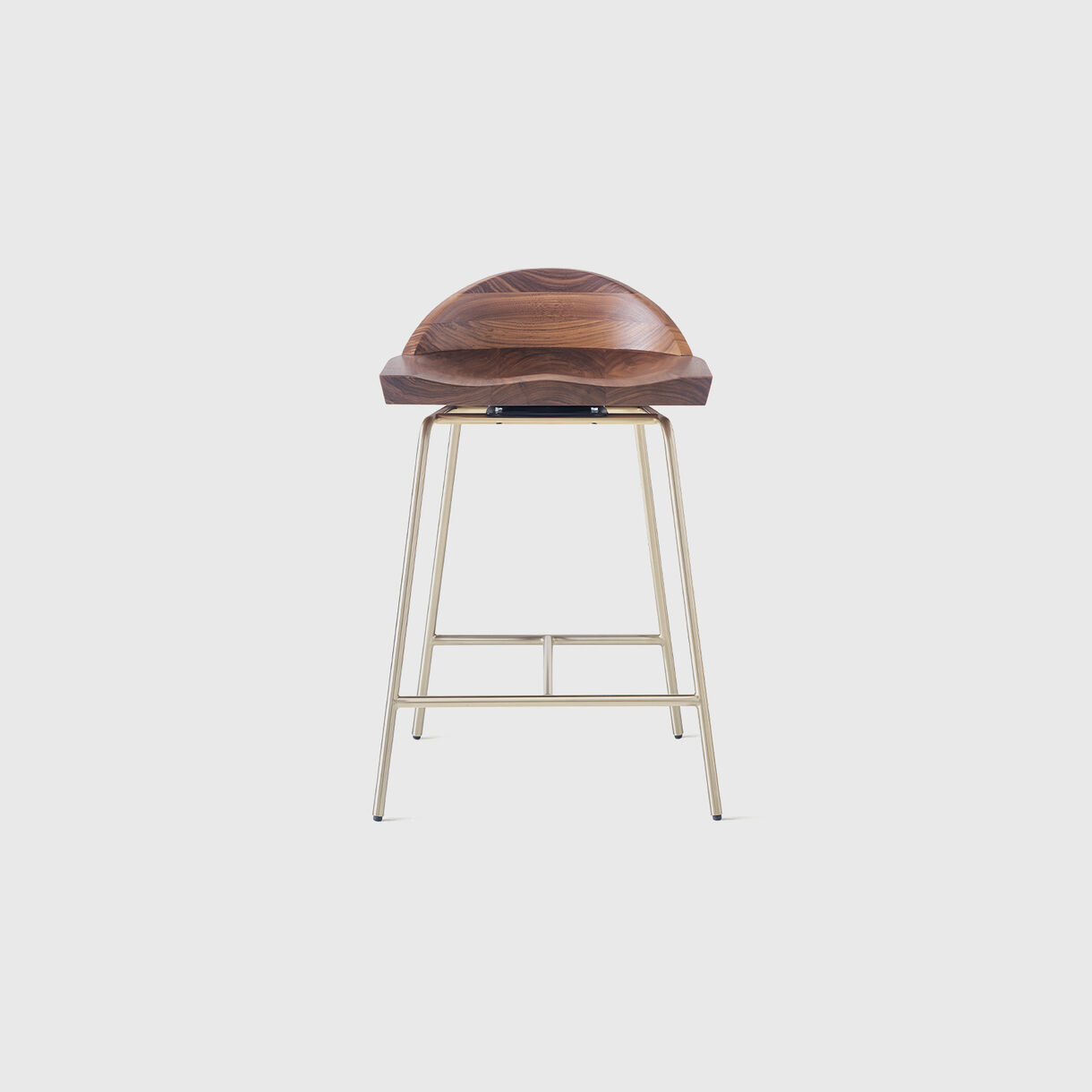 Spindle Low Back Counter Stool