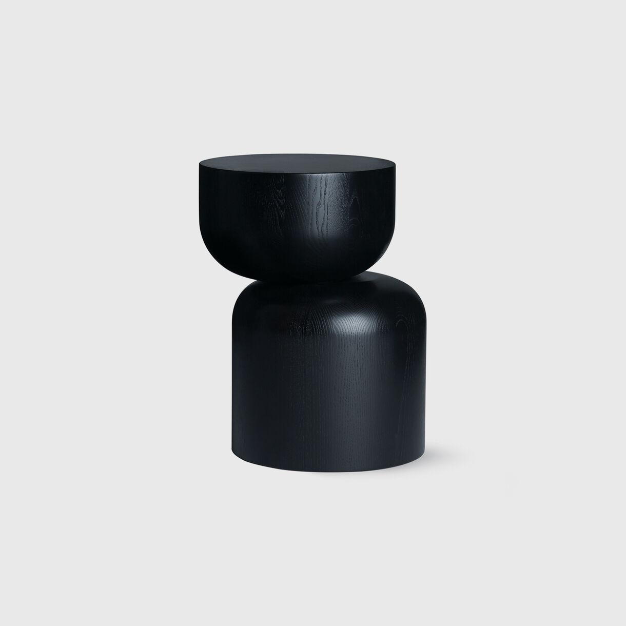 Hew Side Table, D, Black Painted Ash