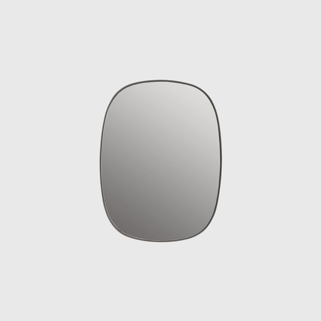 Framed Mirror Small, Grey