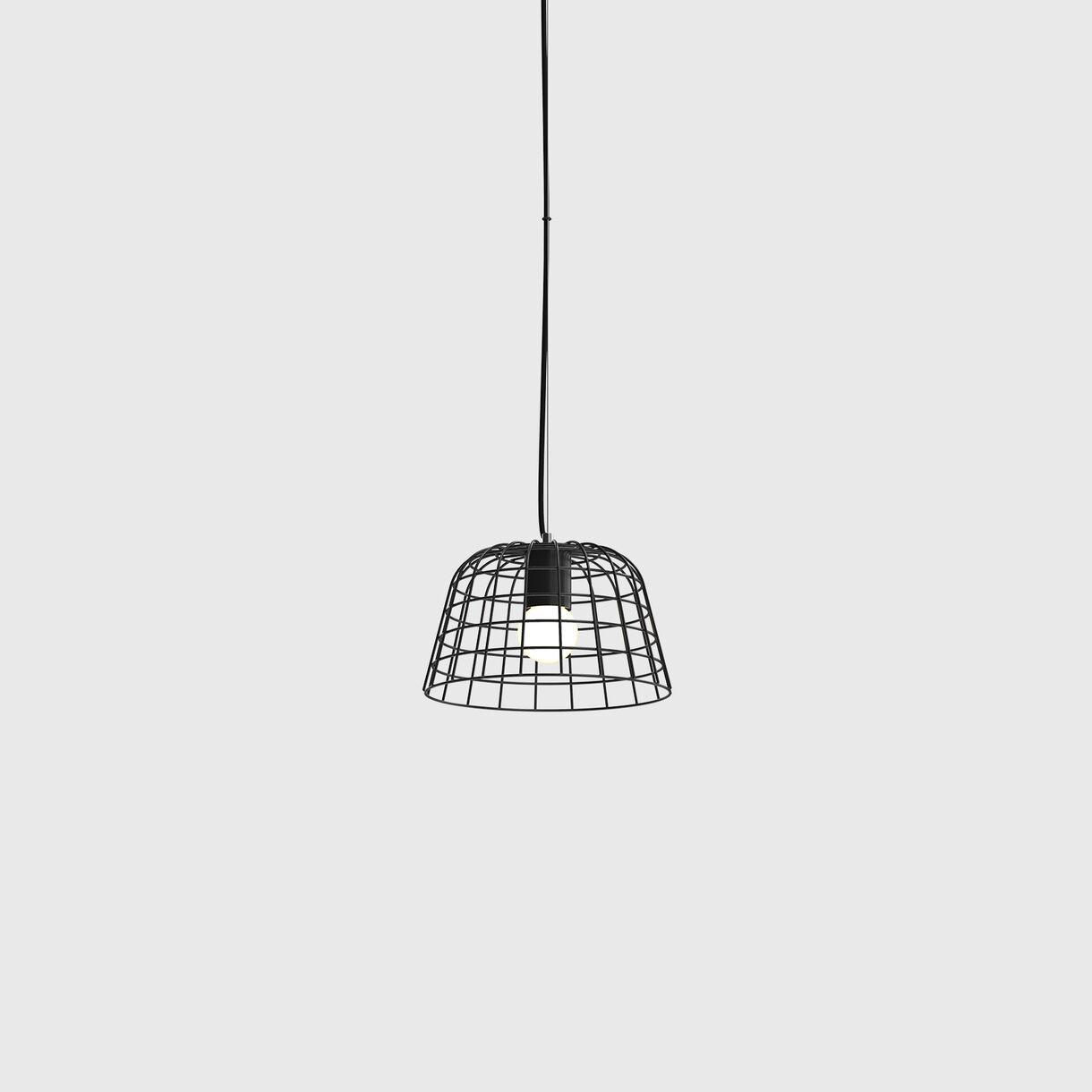 Bolet Wire Pendant Lamp, Black, Small