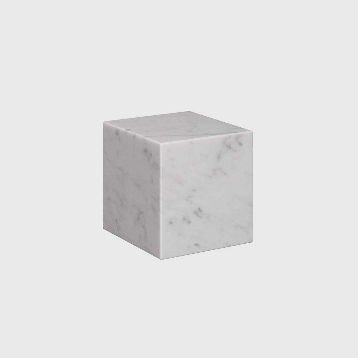 Stop Bookend, White Carrara Marble, Small