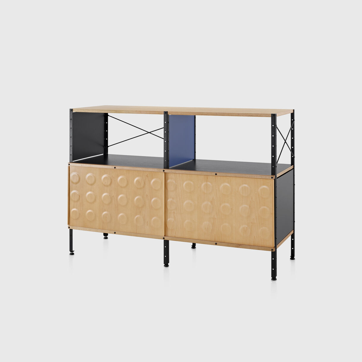 Eames Storage Unit, 2x2 with Doors