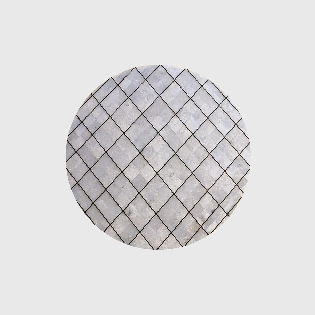 Light Capiz Shell Side Table