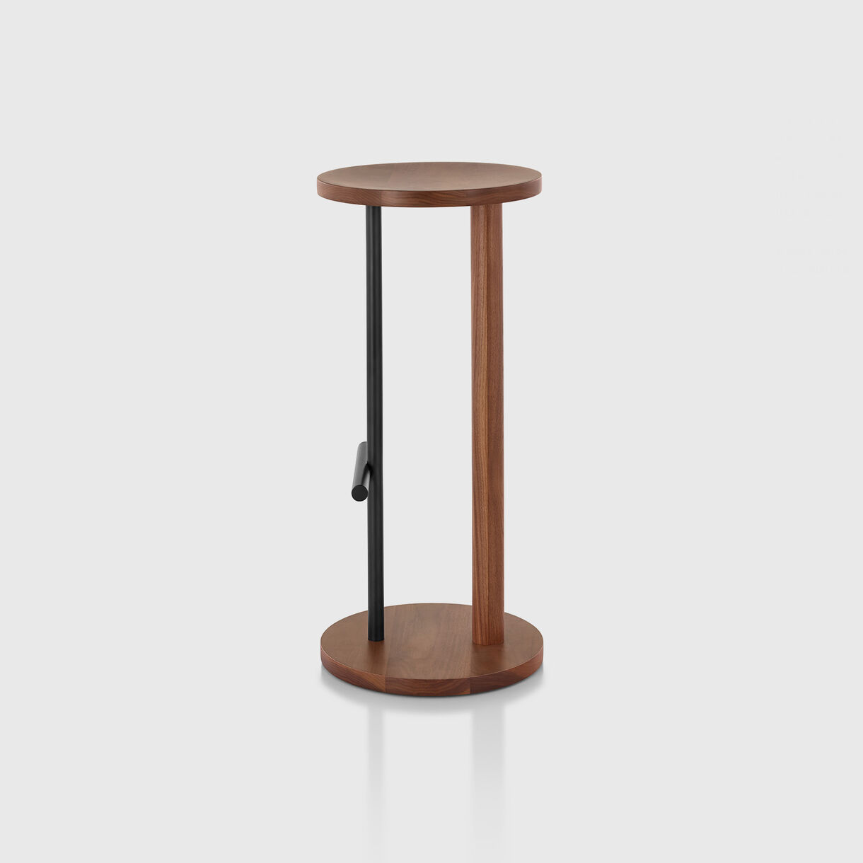 Spot Stool, Bar Height, Walnut & Black