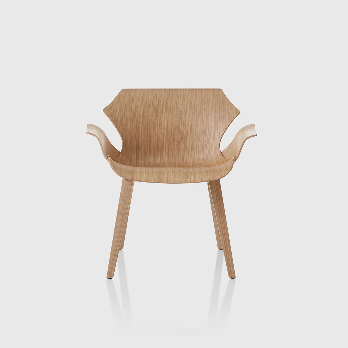Petal Lounge Armchair, Raw Oak
