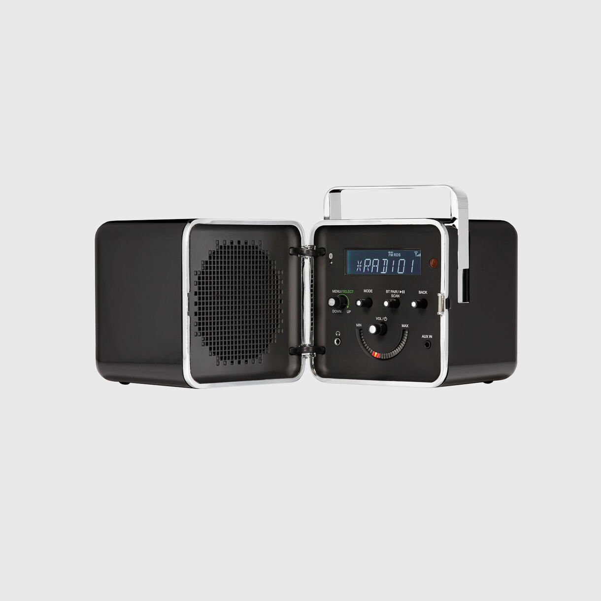 Radio.cubo, Black, Open
