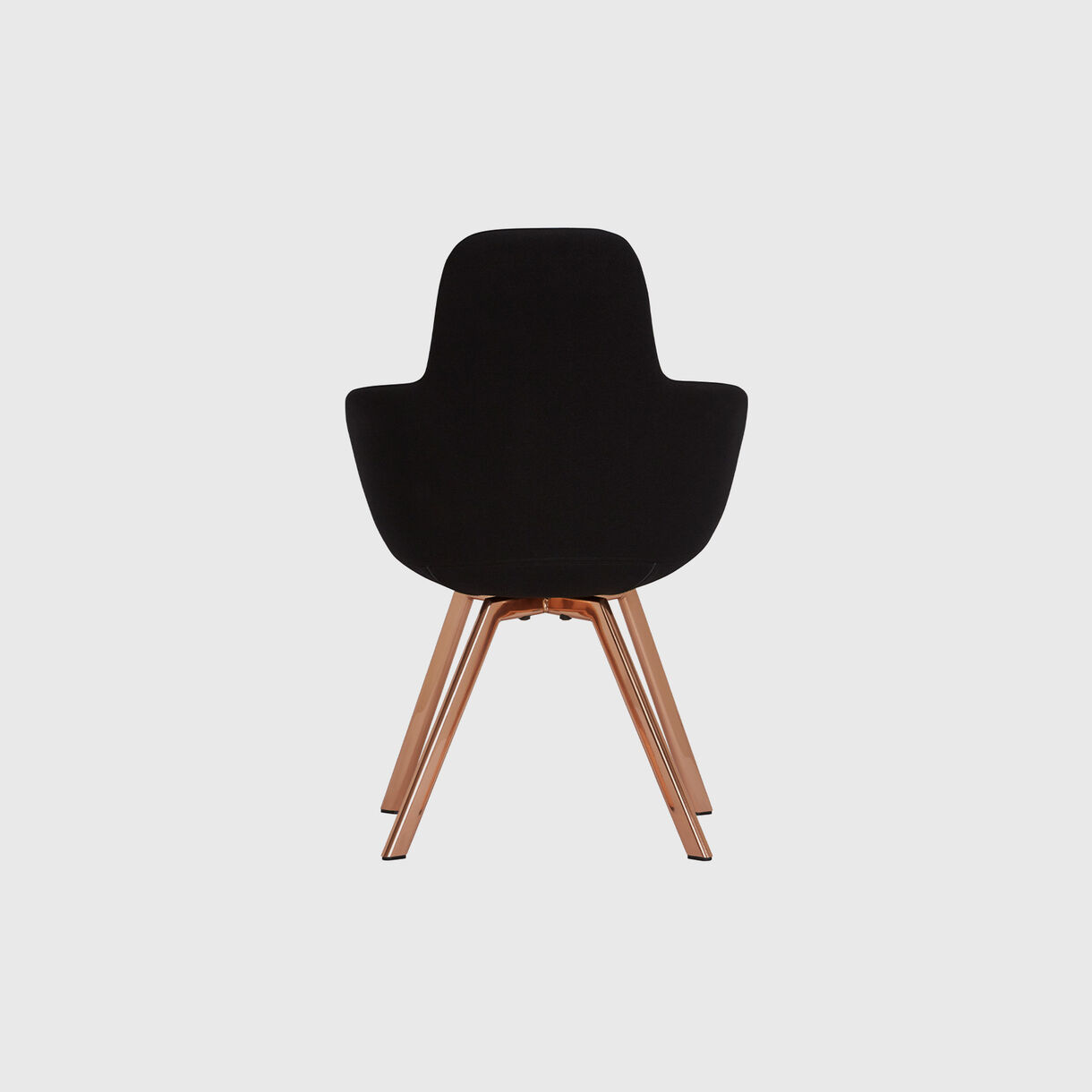 Scoop High Chair, Black & Copper