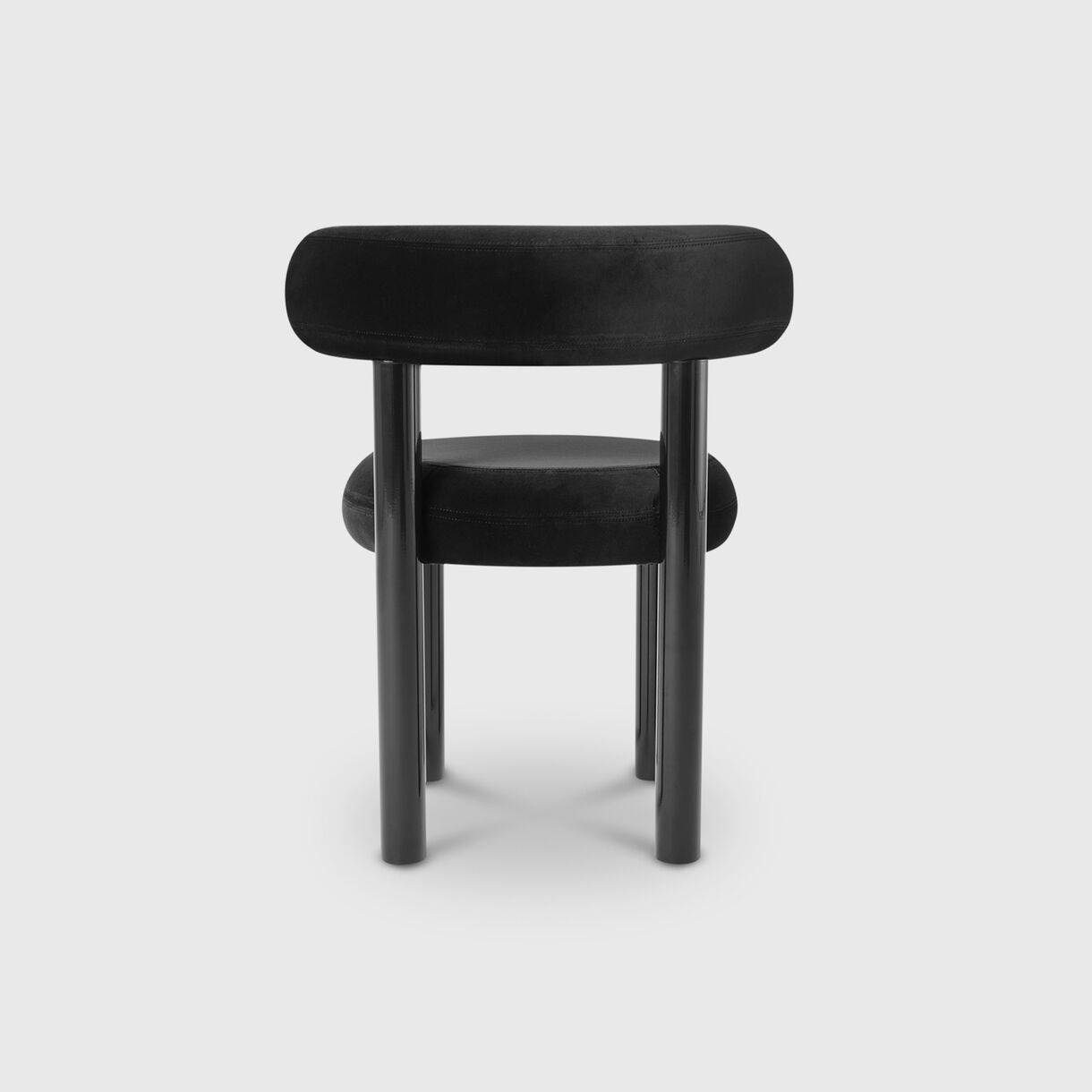 Fat Dining Chair, Black