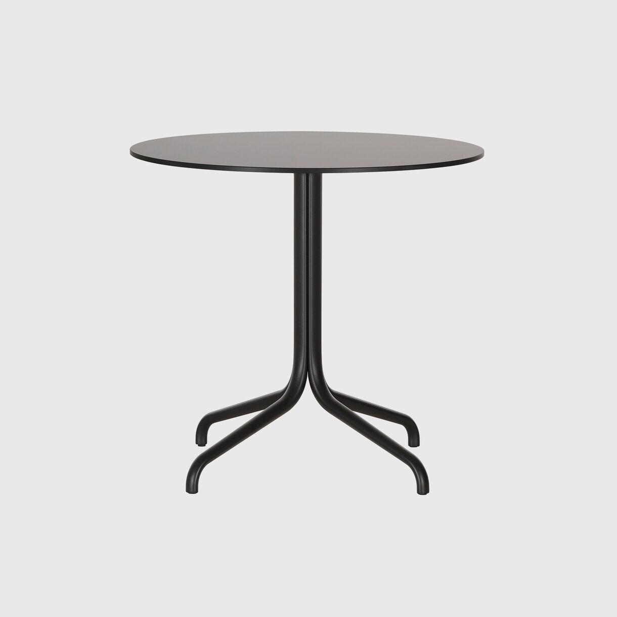 Belleville Round Bistro Table, Black
