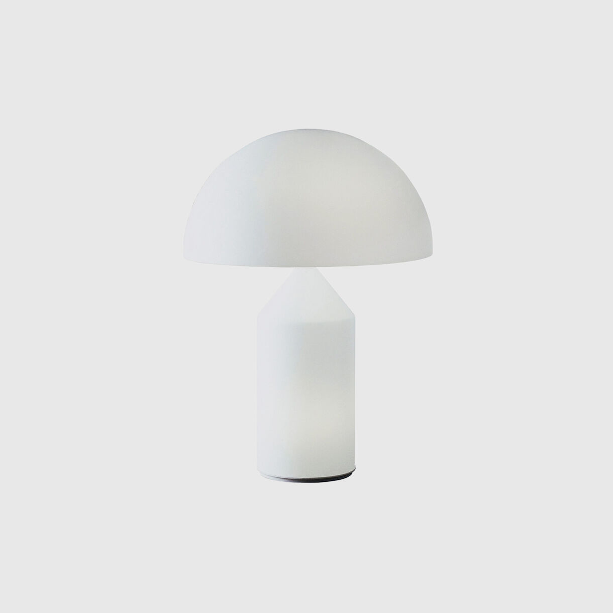 Atollo Table Lamp, Glass, White