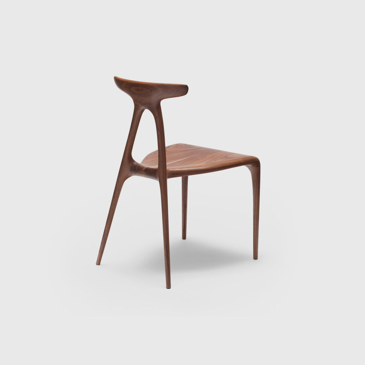 Alpha Chair, Walnut, Back Angled